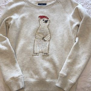 American Eagle polar bear sweatshirt